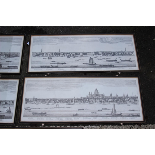 40 - 5 X VINTAGE PRINTS OF LONDON AND THE THAMES 35CM X 87CM...