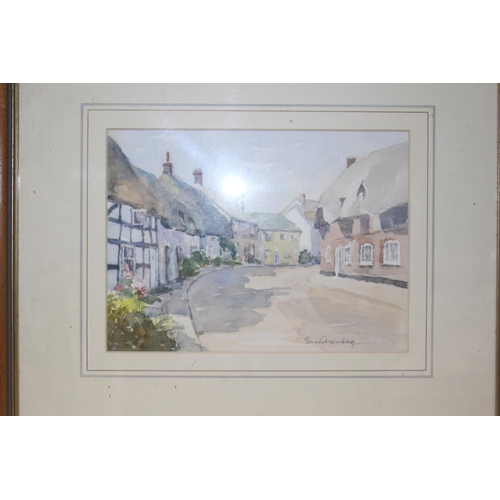 47 - 3 X WATERCOLOURS OF LOCAL AREAS LARGEST 42CM X 51CM...