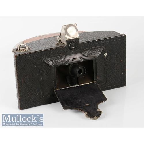 "32 - 1902 Kodak Model B No4 Panoramic camera 4"" wide RF, swinging lens, with broken strap by Eastman Koda..."