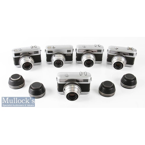 14 - Selection of Carl Zeiss Werra 35mm cameras all with Zeiss/Tessar 2,8/50 6110366, 6191851, 6985836, 6...
