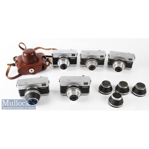 15 - Selection of Carl Zeiss Werra 35mm cameras all with Zeiss Tessar 2,8/50 6597261, 6641850, 6600815, 6...