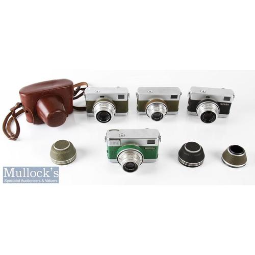 16 - 4x Carl Zeiss Werra 35mm cameras all with Zeiss/Tessar 2,8/50 5723361, 4593902, 5927067, 5968470 len...