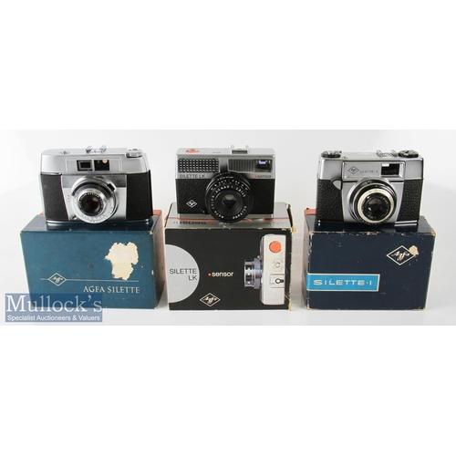 18 - Agfa Silette LK Sensor 35mm camera Agnar 2.8/40 plus Agfa Silette YI6176 Color-Apotar 1:2.8/45, and ...