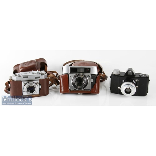 20 - Agfa Karat 36 rangefinder camera Agfa solinar 1:2,8/50 synchro-compur with leather case and strap pl...