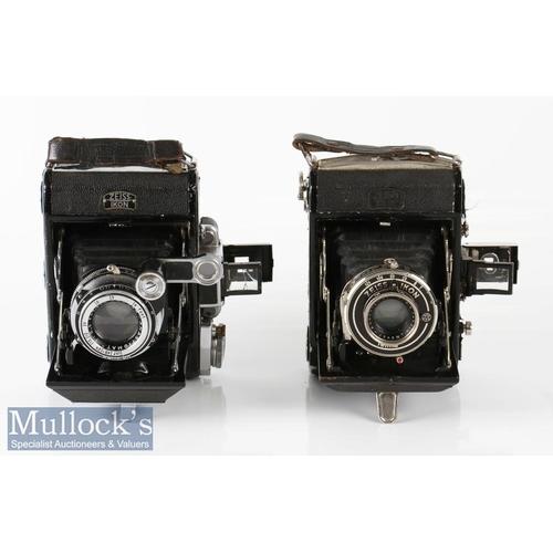 21 - 2x Zeiss Ikon Folding cameras including Novar 1:3,5 f=75mm, plus Zeiss Ikon Telma with Novar 1:4,5 f...