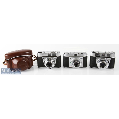 22 - Kodak Retinette 1A and 1B cameras including 1A 56931 with Schneider 2,8/45mm lens and 1B 110305 with...