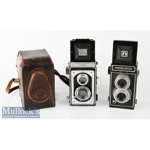 24 - Zeiss Ikoflex TLR camera compur rapid Zeiss/Tessar 1:3,5 f=75mm in leather case plus Photina Reflex ...