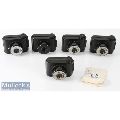 26 - 5x VP Twin bakelite Snapshot Cameras miniature sized includes 2x cases...