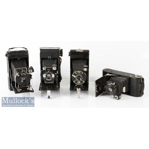 31 - 4x Various folding cameras to include Coronet Pat No 346882, Kershaw Eight-20 Penguin, Vario 1:8 F=1...