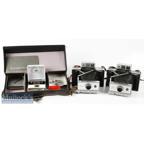 60 - Polaroid 350 and 103 Land Cameras to include 2x examples of each model, all automatic models, plus a...