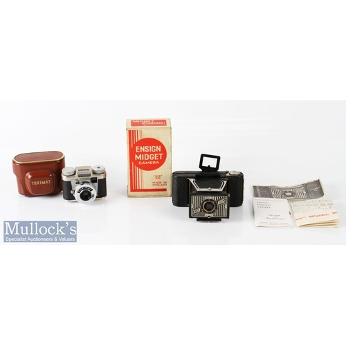 36 - Houghton-Butcher Ensign Midget 22 folding camera appears complete with maker's box, instructions, to...