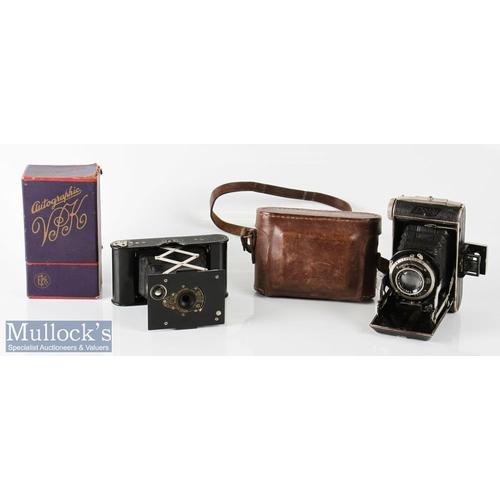 37 - Kodak Autographic Ball Bearing Shutter folding camera No A-127 to reverse with original box together...