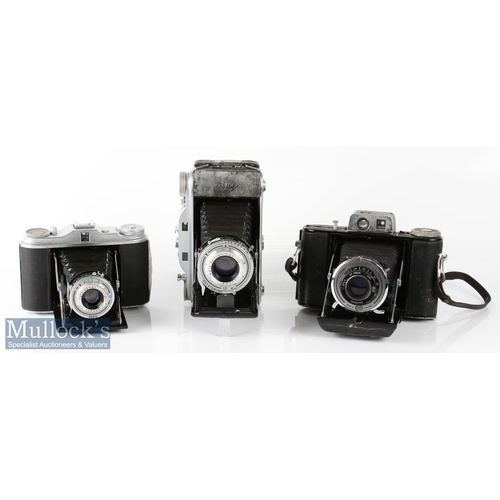 38 - Agfa Isolette folding camera with Agnar 1:4,5/85, vario shutter, plus Agfa Record III camera with Ap...