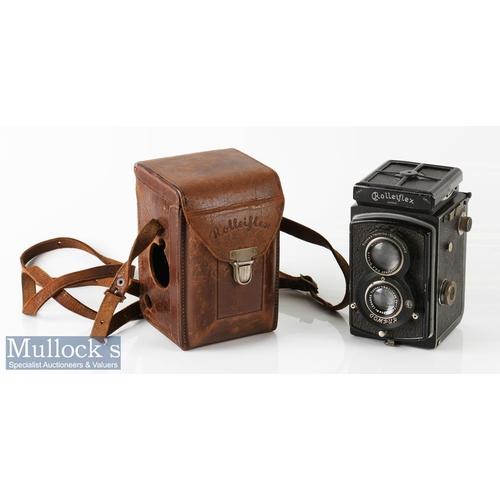 4 - Old Standard Rolleiflex 249522 TLR camera Franke & Heidecke Tessar/Zeiss 1:3,8 f=75mm Compur, with l...