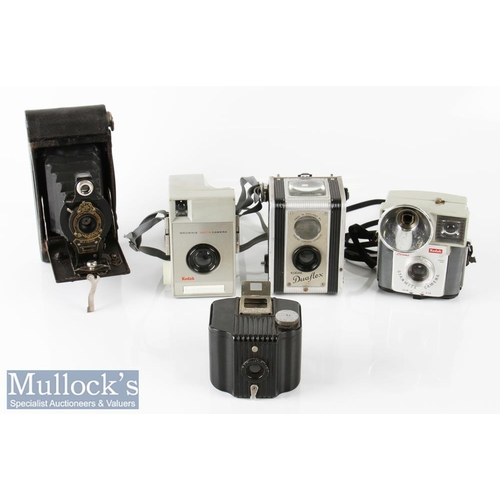 45 - Kodak No2 Autographic Brownie folding camera with ball bearing shutter NoA-120 to reverse, together ...
