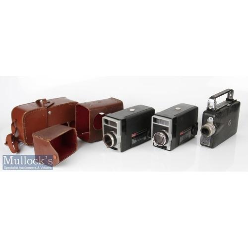49 - Kodak Cine Magazine camera with Kodachrome 7 magazine together with 2x Kodak 8 movie cameras f/1.9 b...