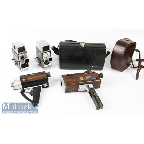 54 - 4x Bell & Howell Cine Cameras to include 624 8mm model, an Autoset II example, Filmosound 8 and auto...