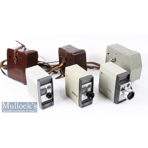 55 - Eumig S3 Zoom 8mm camera within hard case together with 2x Eumig S2 cameras in leather cases – all a...