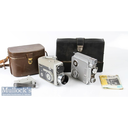 58 - Eumig Admira 8f 8mm cine camera with working mechanism together with a Eumig C5 plus shooting handle...