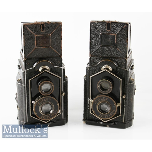 8 - 2x Zeiss Ikon Ikoflex TLR cameras both with Novar-Anastigmati 1:6,3 f=80mm (2)...