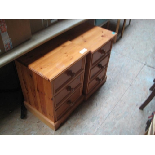 112 - Pair of Pine 3 Drawer Bedside Chests...