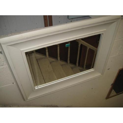 119 - White Rectangular Bevelled Wall Mirror...