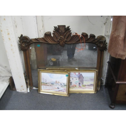 121 - Victorian Gilt Overmantle requires Restoration...