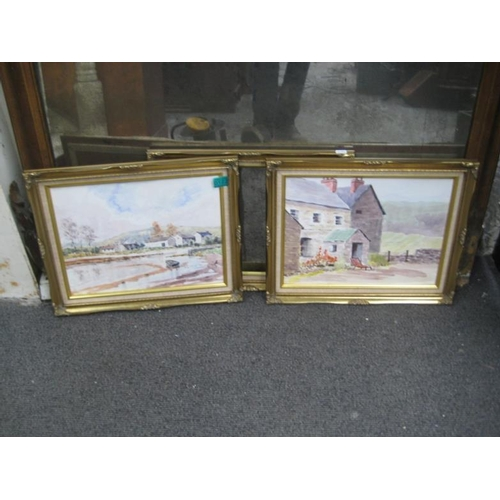 122 - Pair of framed Landscapes Signed WMB and another...
