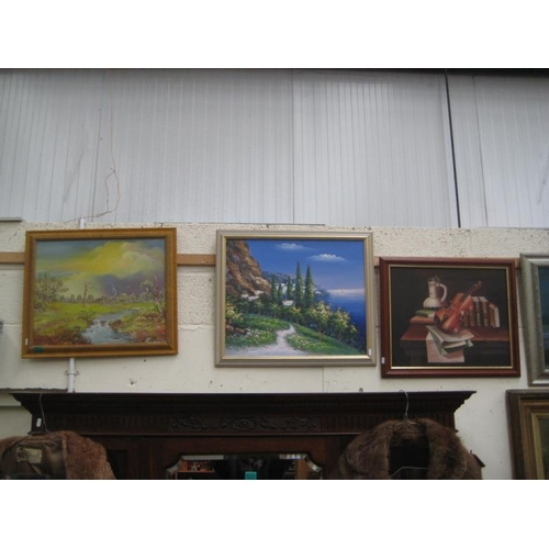 123 - Two framed Landscape Pictures...