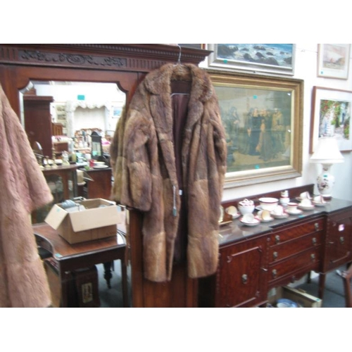 126 - Ladies Fur Coat 3/4 length...