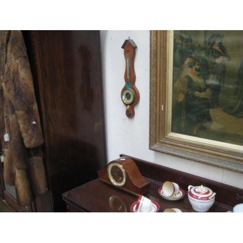 128 - Barometer and a Mantle Clock...