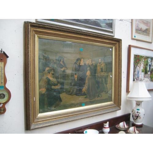 129 - Large Victorian Gilt Framed Print of a