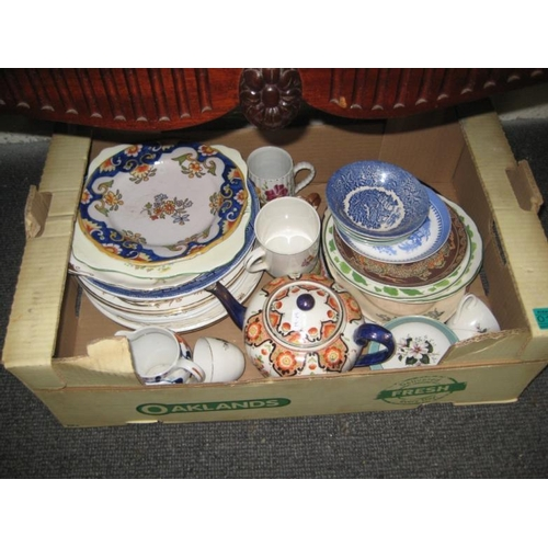 135 - Box lot of Various Pottery and China...