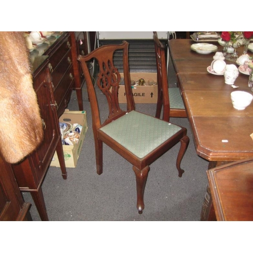 137 - Set of 5 Chippendale style Mahogany Dining Chairs...