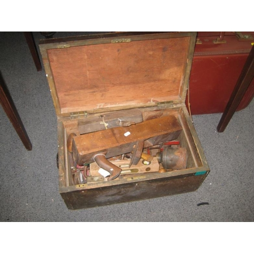 140 - Collection of old Woodworking Tools in a Box &...