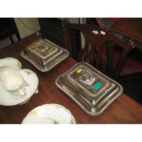 145 - Pair of Silver Plated Entrée Dishes...