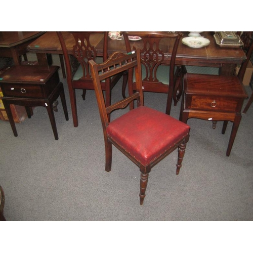146 - Set of 4 Edwardian Walnut Dining Chairs...