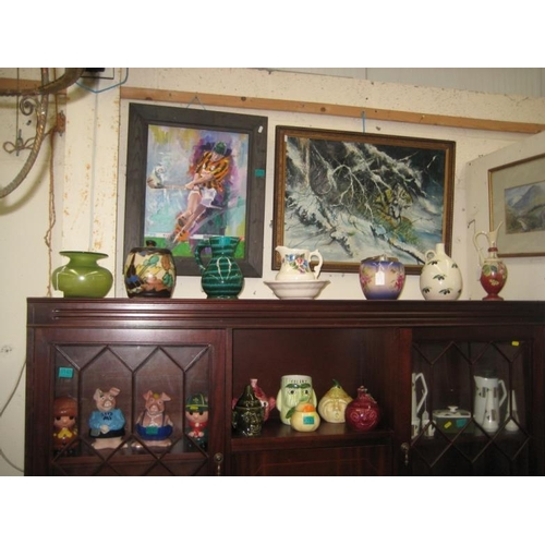 151 - Collection of Porcelain Jugs, etc on Dresser Top...