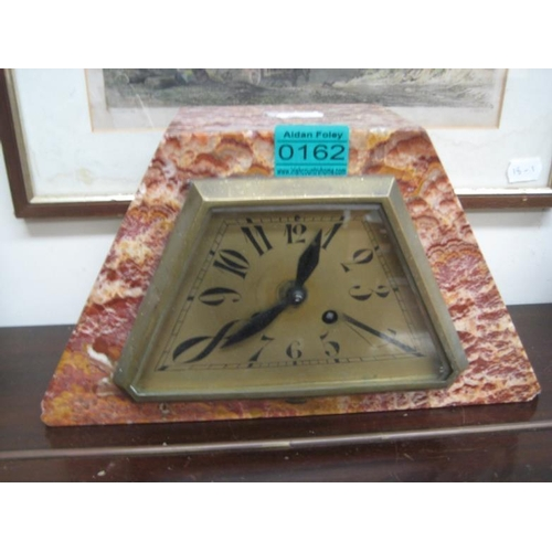 162 - Art Deco Marble Mantle Clock...