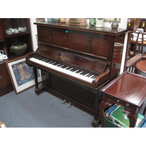 163 - Mahogany Cased Upright Piano by Forrester...