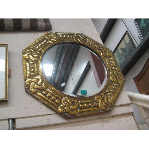 174 - Brass Framed Mirror...