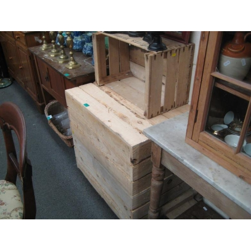 183 - Three Timber Crates (new) used as Bookshelves...
