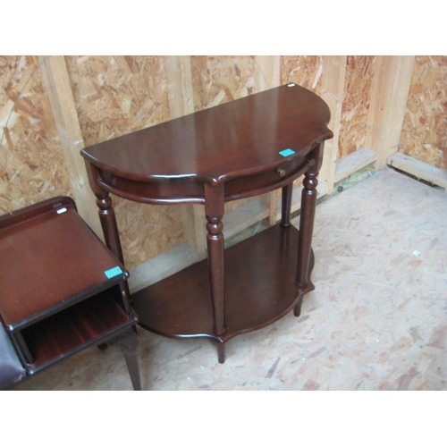 19 - Serpentine Front Hall Table...