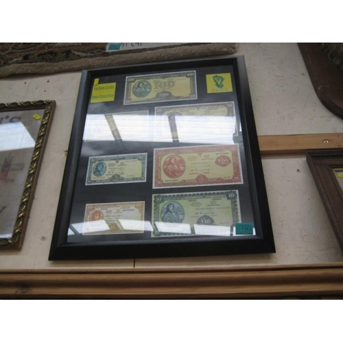 192 - Framed Old Irish Notes...