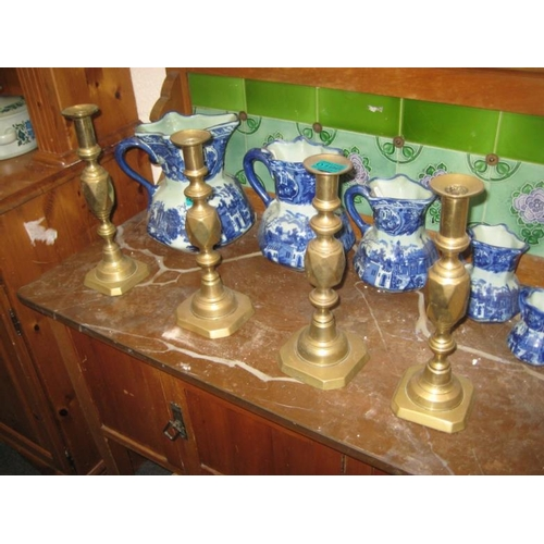 196 - Set of 4 Victorian Brass Candlesticks...