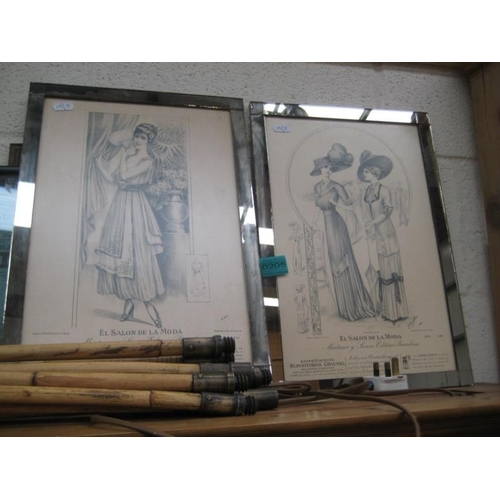 205 - Two Framed Vintage Fashion Prints...