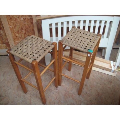 21 - Two Kitchen Stools...