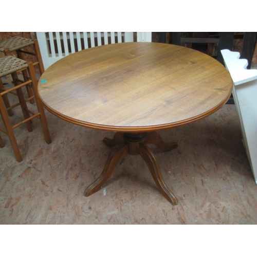 23 - Oak Circular Supper Table...