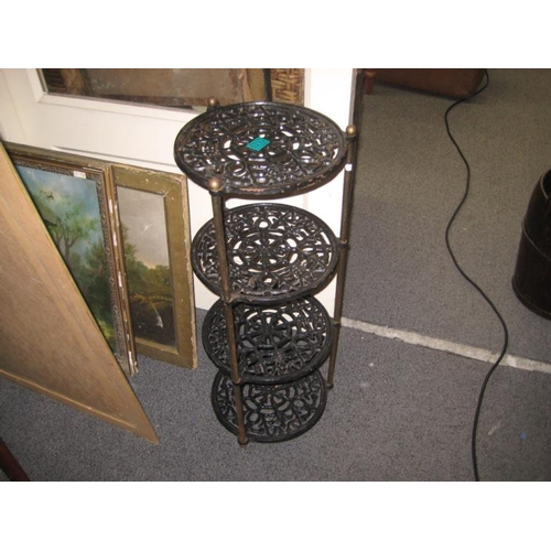 232 - 3 Tier Cast Iron Pot Stand...