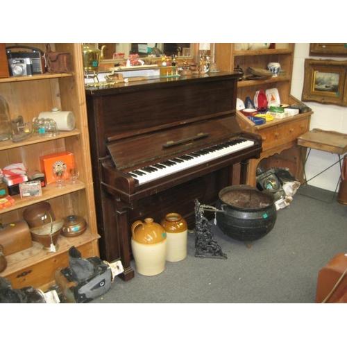 244 - Mahogany cased Iron Framed Upright Piano...
